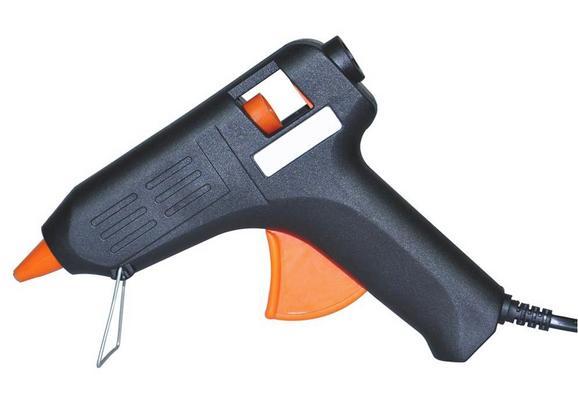 Heißklebepistole Theodor in Orange/Schwarz - Schwarz/Orange, KONVENTIONELL, Kunststoff (0,273kg)