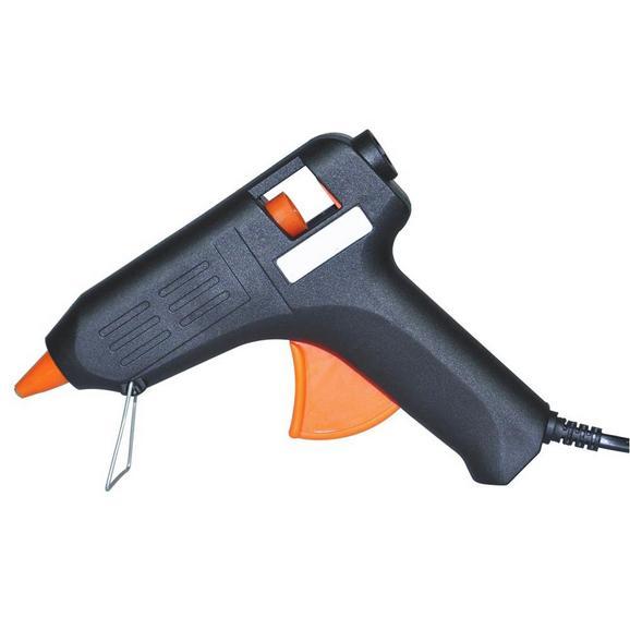 Heißklebepistole Theodor Orange/Schwarz - Schwarz/Orange, KONVENTIONELL, Kunststoff