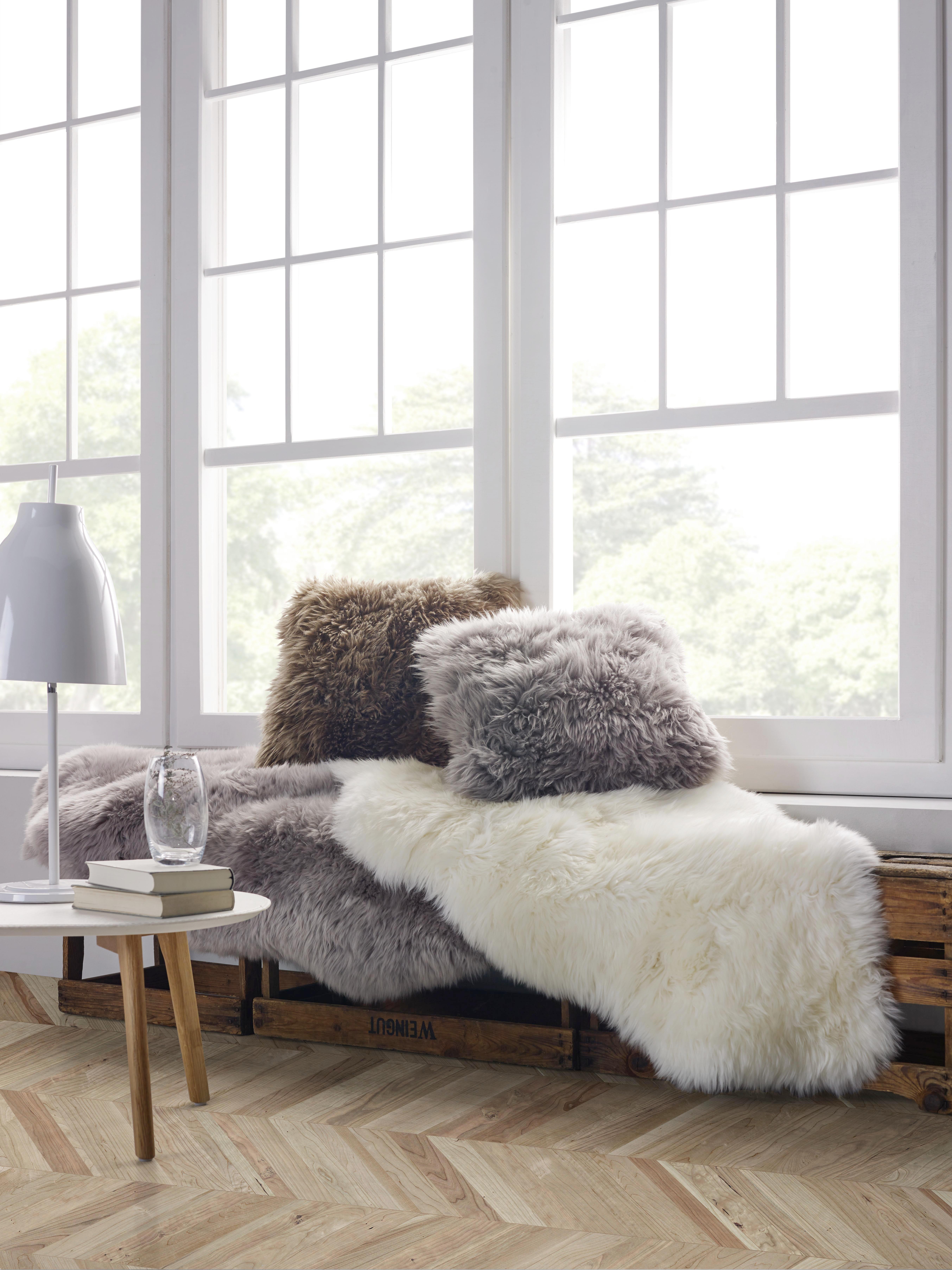 Fellkissen Leander 45x45cm - Grau (45/45cm) - MÖMAX modern living