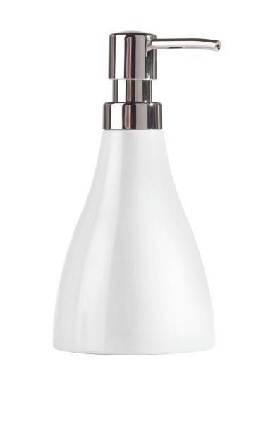 Seifenspender Bella in Weiß - Weiß, KONVENTIONELL, Kunststoff (9,2/17,5/9,2cm) - Mömax modern living