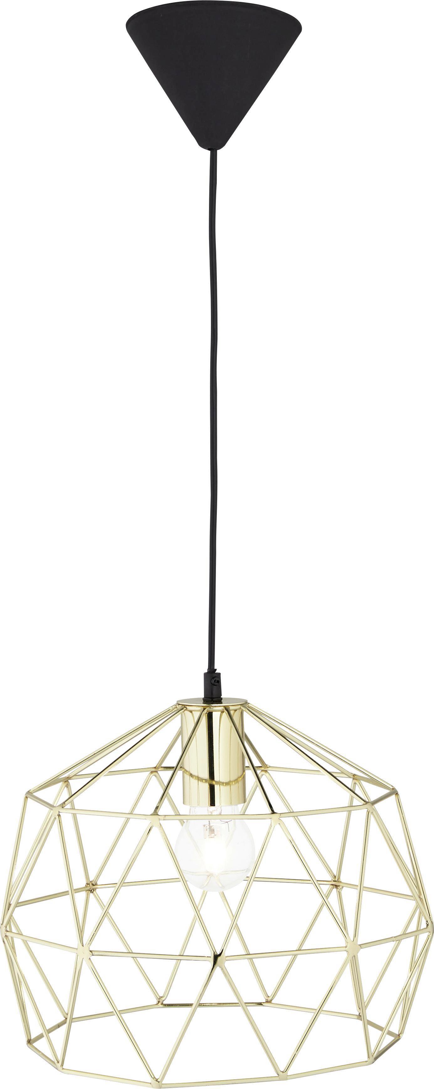 Hängeleuchte Yanis - Bronzefarben, MODERN, Kunststoff/Metall (30/30/135cm) - MÖMAX modern living