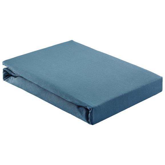 Gumis Lepedő Basic 180/200 - Sötétkék, Textil (180/200cm) - Mömax modern living