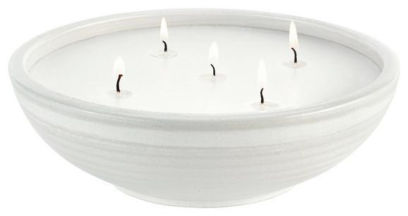 Sveča V Lončku Ian - bela, Trendi, keramika (20/6,5cm) - MÖMAX modern living