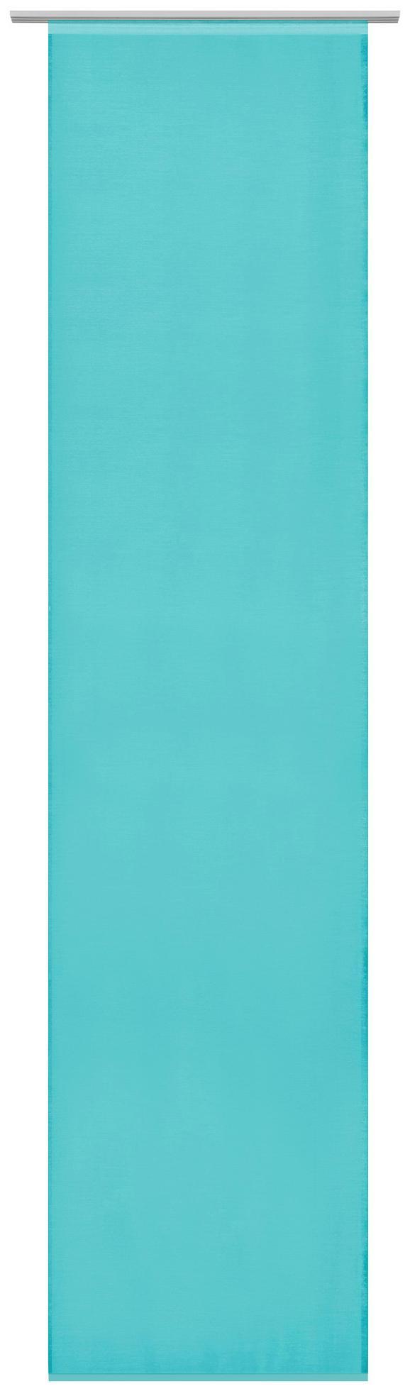 Flächenvorhang Uni in Petrol, ca. 60x245cm - Petrol, MODERN, Textil (60/245cm) - Mömax modern living