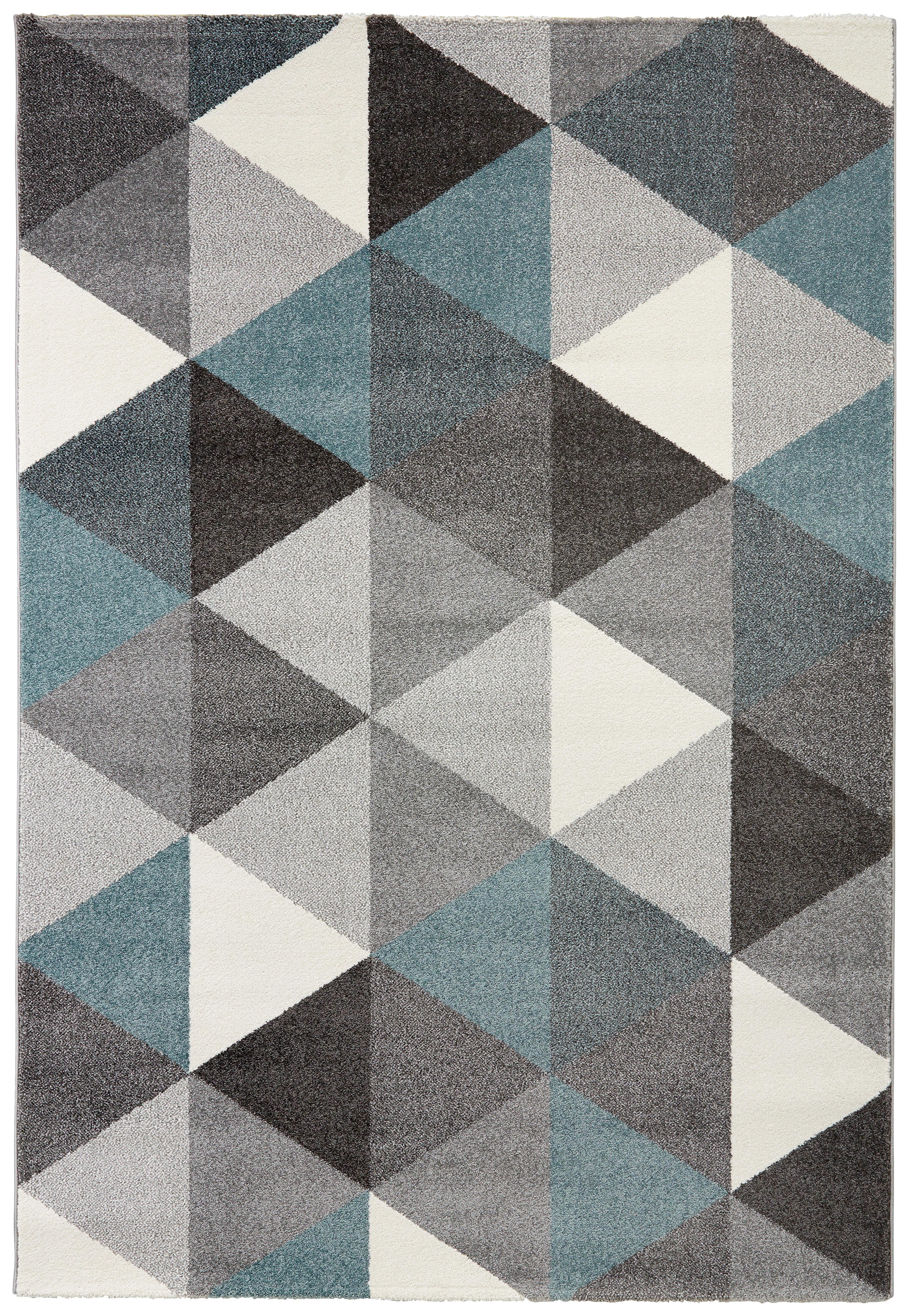 webteppich rom blau grau 120x170cm online kaufen m max. Black Bedroom Furniture Sets. Home Design Ideas