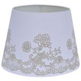 Lámpaernyő Camilla - Fehér, romantikus/Landhaus, Fém/Textil (25-35/25cm) - Mömax modern living