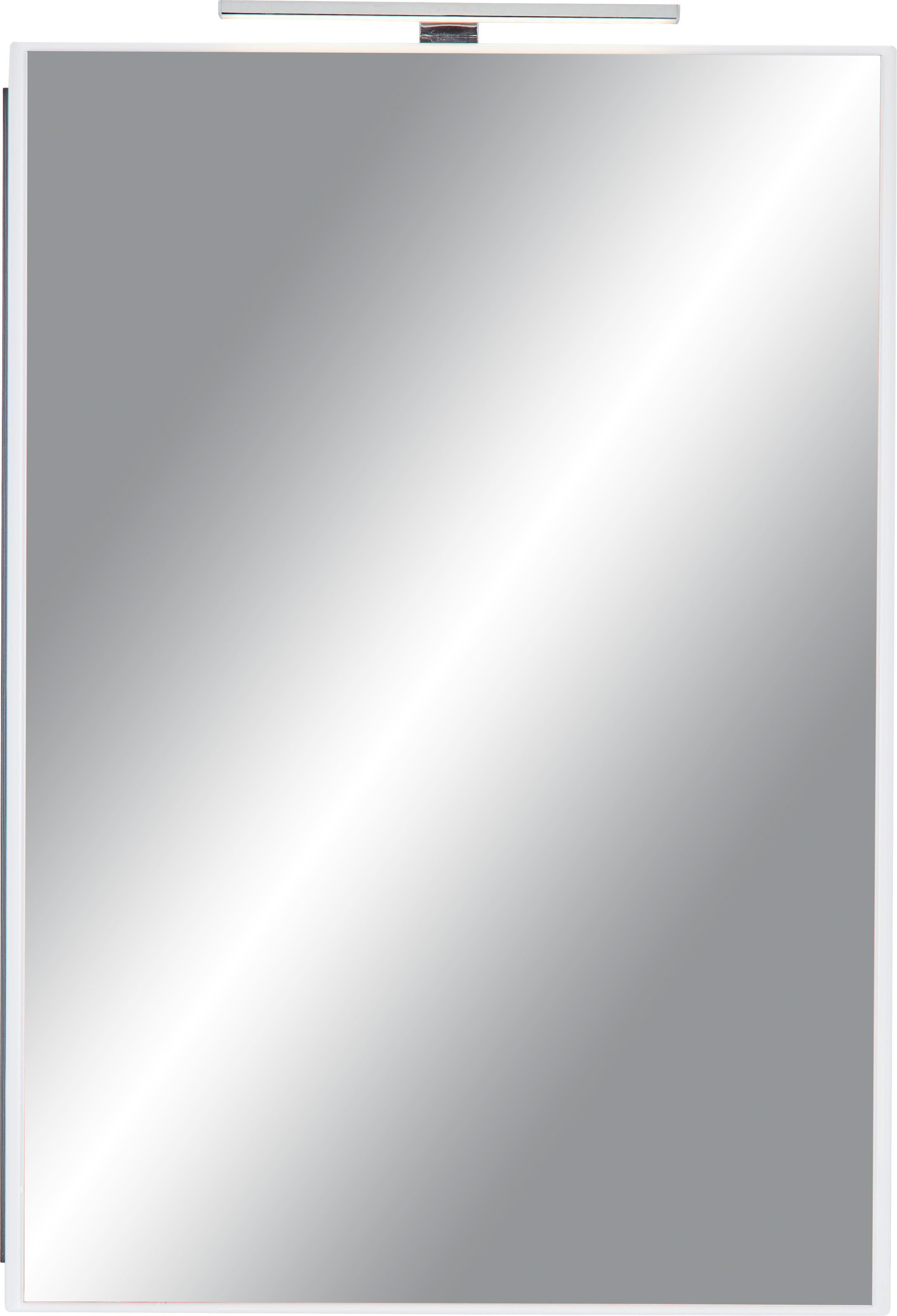 Spiegelschrank ca. 60x85x20cm - Braun/Weiß, MODERN, Holzwerkstoff/Metall (52/150/35cm) - MÖMAX modern living
