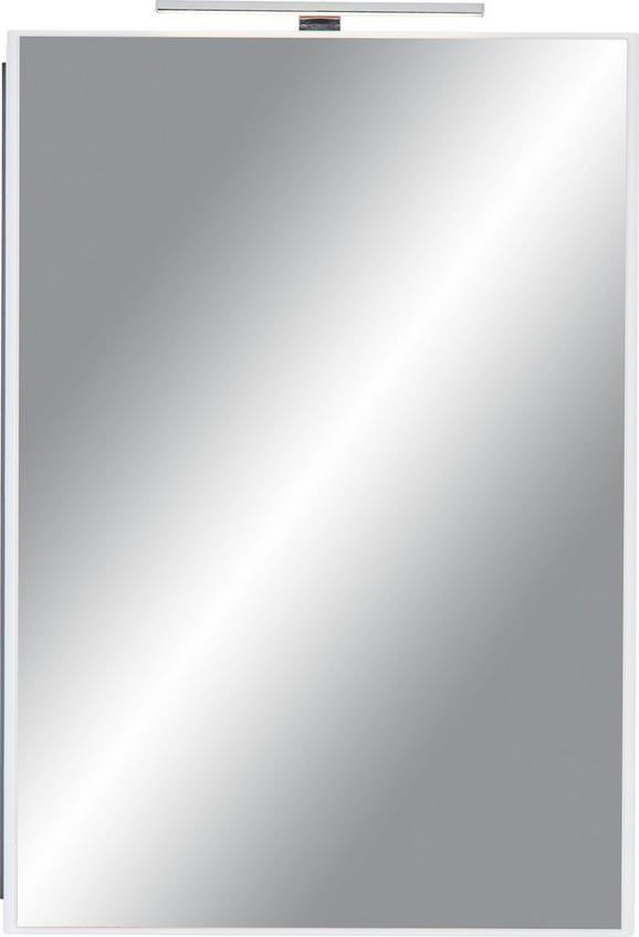 Spiegelschrank Weiß/Braun - Braun/Weiß, MODERN, Holzwerkstoff/Metall (60/85/20cm) - MÖMAX modern living