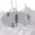 Viseča Svetilka Larissa - bela, Romantika, kovina (30/110cm) - Modern Living