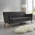 Sofa Patrick Dreisitzer - Dunkelgrau, MODERN, Holz/Textil (200/84/84cm) - Bessagi Home