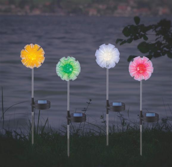 Solarleuchte Flower, max. 0,06 Watt - Pink/Gelb, Kunststoff/Metall (9,3/7,5/42,6cm) - Mömax modern living