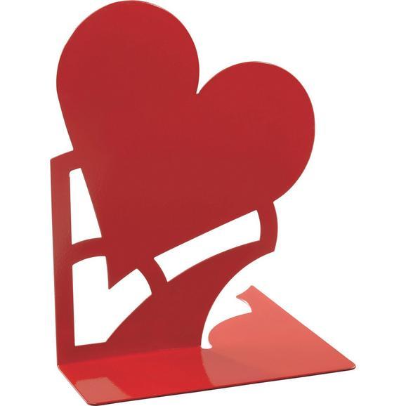 Könyvtámasz Mon Amour    -sb- - Piros, Fém (14,6/19/14,5cm)