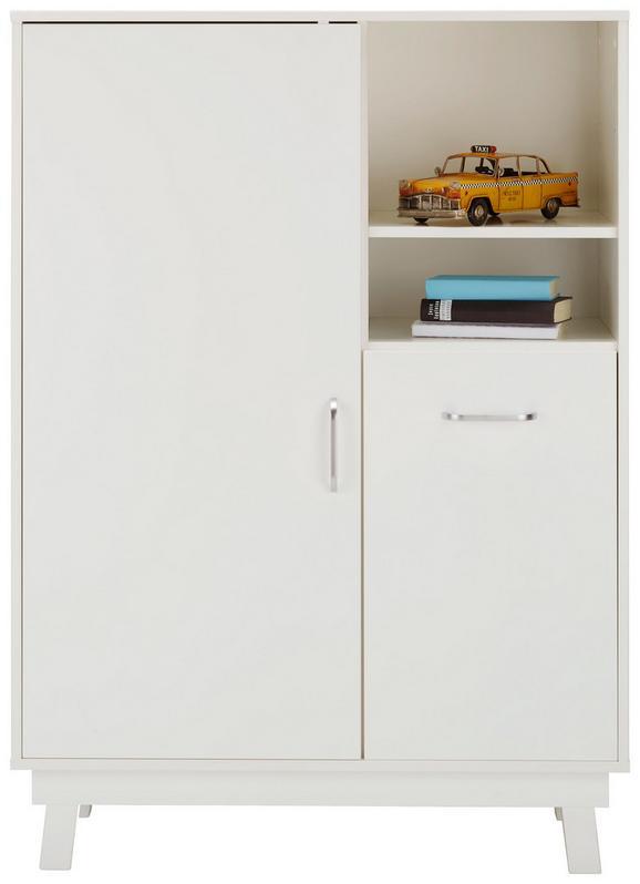 Highboard in Weiß - Weiß, MODERN, Holz (93/130/40cm) - Premium Living
