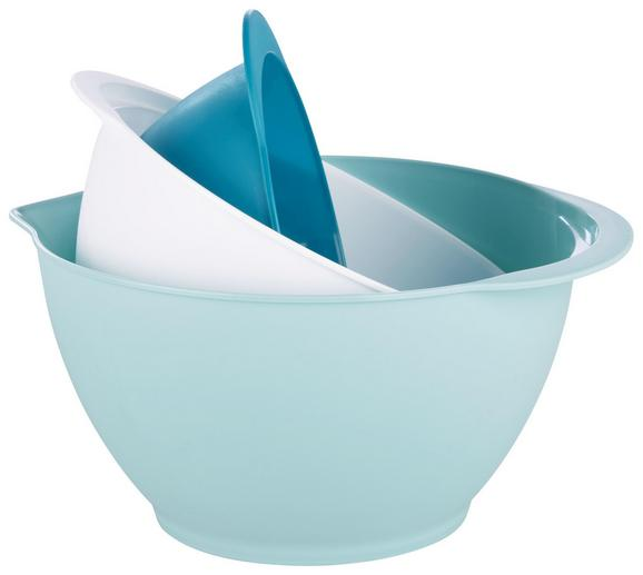 Schüsselset Antije Verchiedene Farben - Petrol/Weiß, MODERN, Kunststoff (3l)