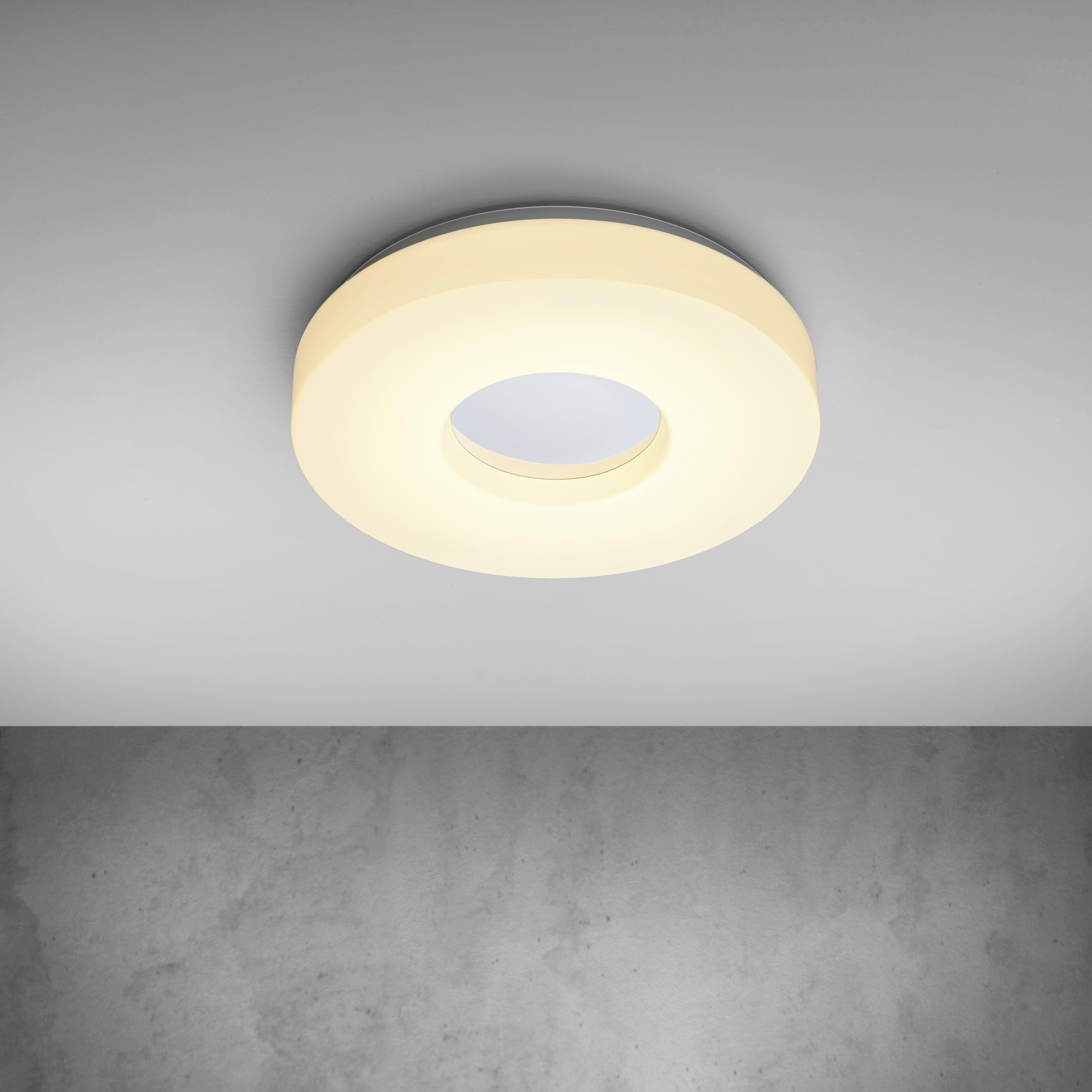 LED-Deckenleuchte Mira - Chromfarben/Weiß, MODERN, Kunststoff/Metall (30/30/6cm) - MÖMAX modern living