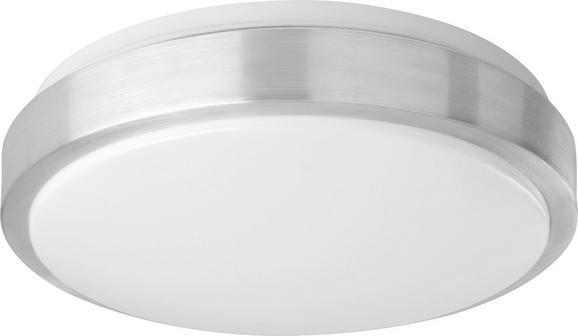 LED-Deckenleuchte Cyber - Alufarben/Weiß, MODERN, Kunststoff/Metall (33/33/11cm) - Mömax modern living