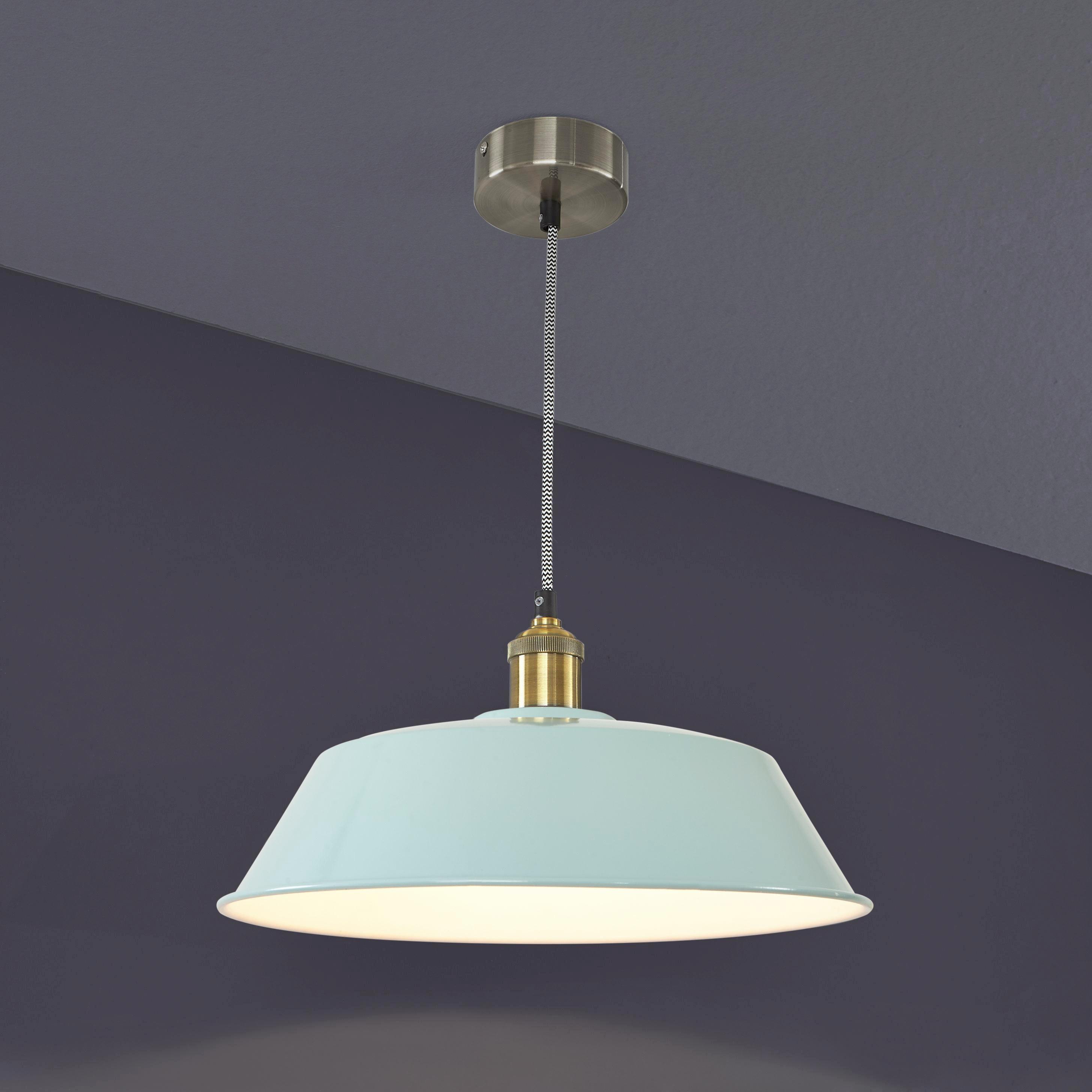 Leuchtenschirm Felix in Mintgrün - Mintgrün, Metall (36/36/18cm) - MÖMAX modern living