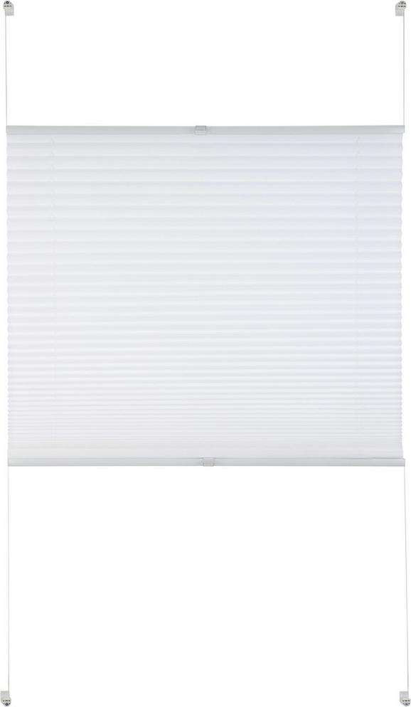 Plissee Free in Weiß, ca. 100x130cm - Weiß, Textil (100/130cm) - Premium Living