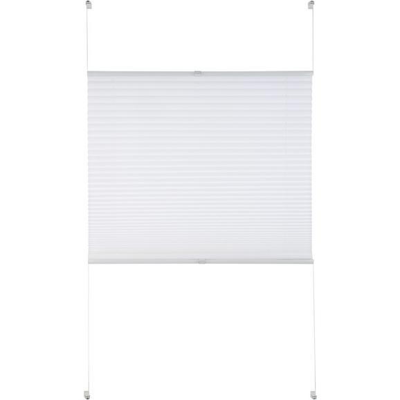 Plissee Free in Weiß ca. 100x130cm - Weiß, Textil (100/130cm) - Premium Living