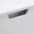 Garderobenbank Basic - Weiß, MODERN, Holz (87/45/40cm) - Modern Living
