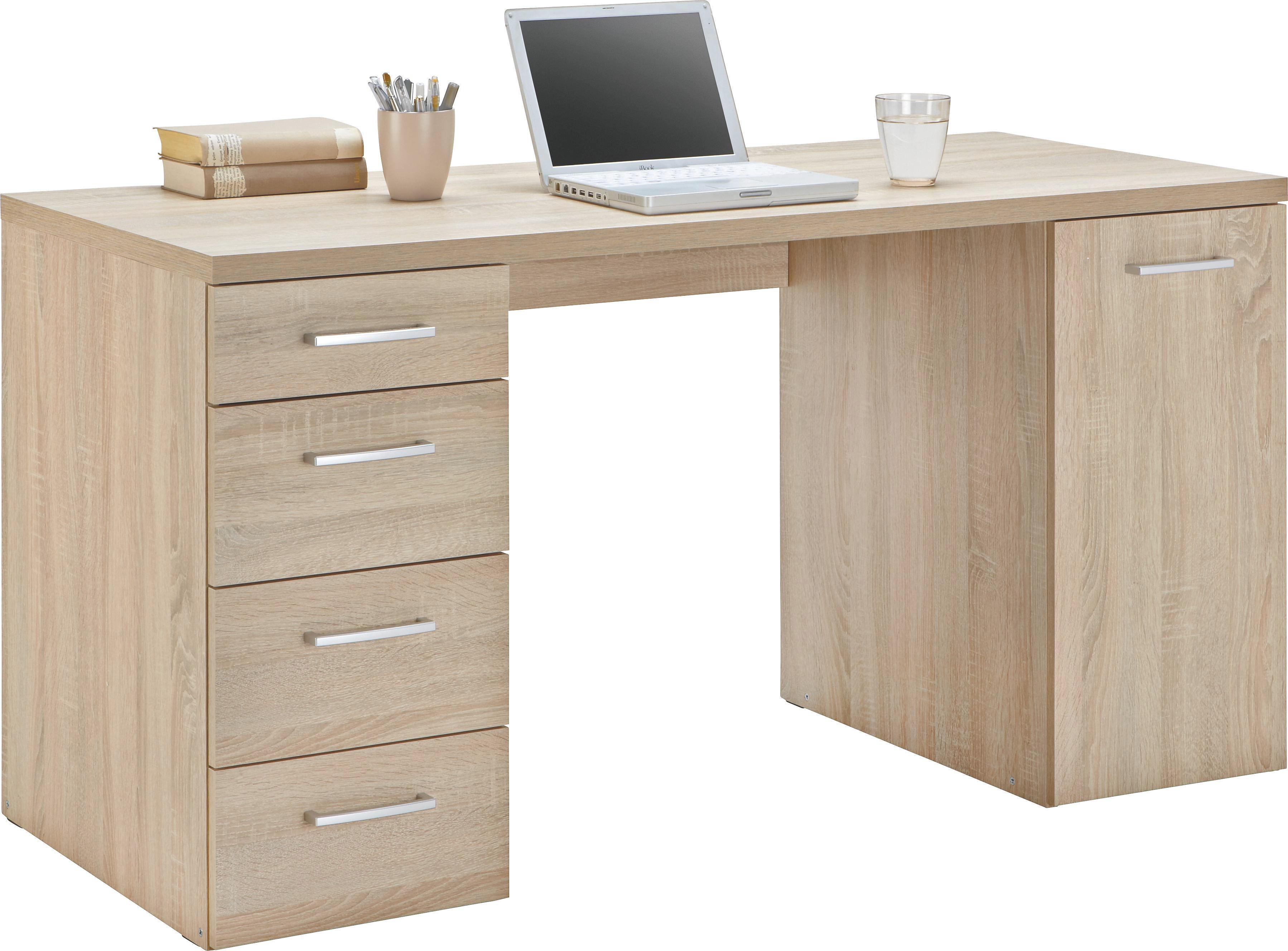 Schreibtisch in Sonoma Eiche - Anthrazit, MODERN, Kunststoff (139/74/60cm) - MÖMAX modern living