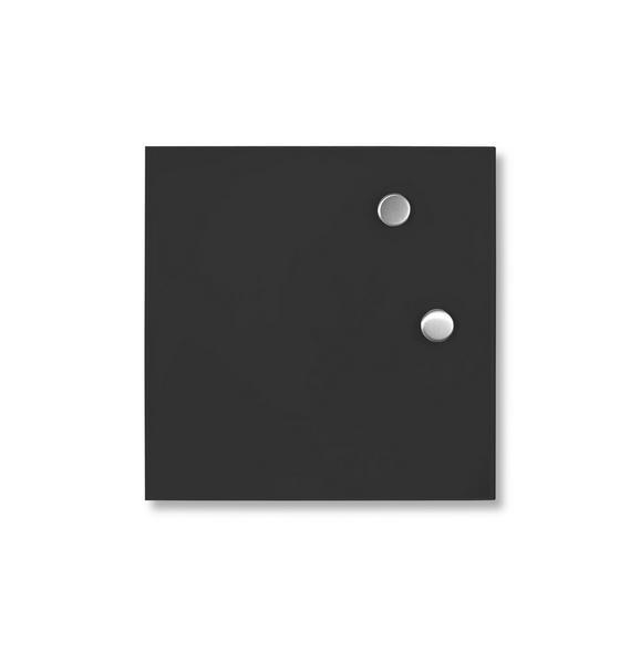 Üzenőtábla Tanja - Fekete, modern, Üveg (35/35cm) - MÖMAX modern living