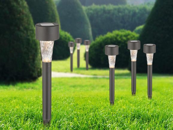 Solarleuchte Ben, max. 0,06 Watt - Klar, Kunststoff (4,5/30,5cm)