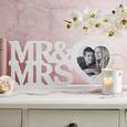 Rame Foto Mr&mrs - alb, Romantik / Landhaus, plastic/compozit lemnos (45/20/4cm) - Modern Living