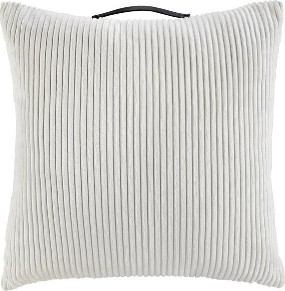 Zierkissen Cordy in Weiß, ca. 60x60cm - Weiß, MODERN, Textil (60/60cm) - MÖMAX modern living