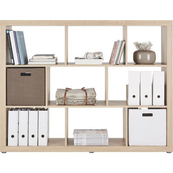 Raumteiler Eichefarben - Eichefarben, Holzwerkstoff/Kunststoff (152,4/119,8/34cm) - Mömax modern living