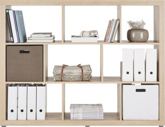 Raumteiler in Eiche, 9 Fächer - Eichefarben, Holzwerkstoff/Kunststoff (152,4/119,8/34cm) - MÖMAX modern living