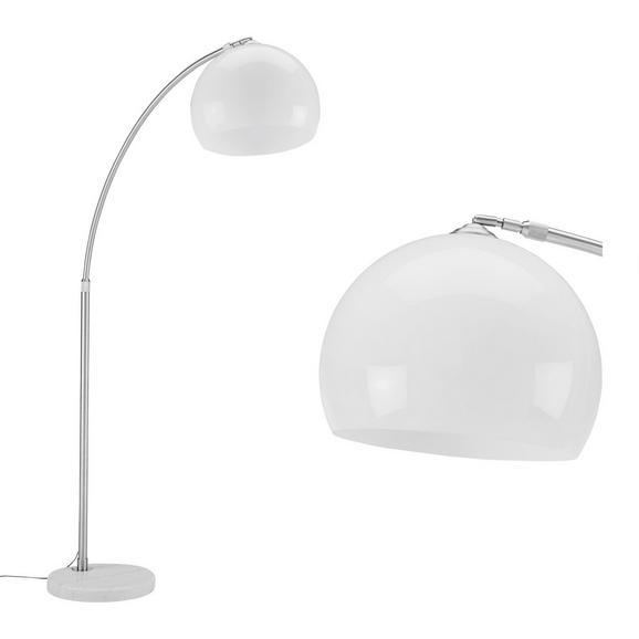 Stoječa Svetilka Scarlet - bela/srebrna, Moderno, kamen/kovina (175/200cm) - Mömax modern living
