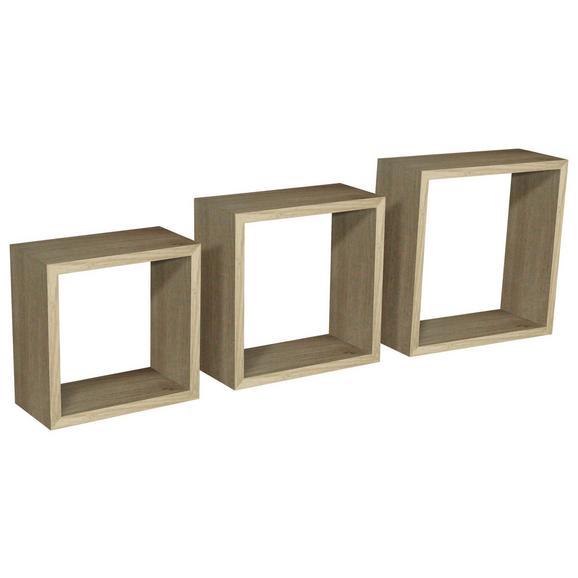 Raft De Perete Simple 3 - culoare lemn stejar, Modern, plastic/compozit lemnos (30-27-24/30-27-24/12cm)