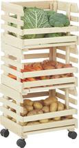 Stolp Za Skladanje Fruits  3 V Setu Na Kolescih - naravna, les (34/80/30cm)