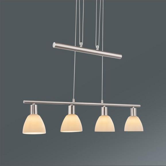Hängeleuchte Gido Opal max. 40 Watt - Opal/Nickelfarben, KONVENTIONELL, Glas/Metall (80/12/180cm) - Mömax modern living