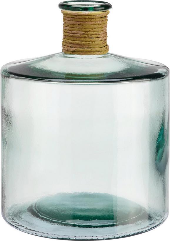 Vaza Klara - prozorna, steklo/ostali naravni materiali (26cm) - Mömax modern living