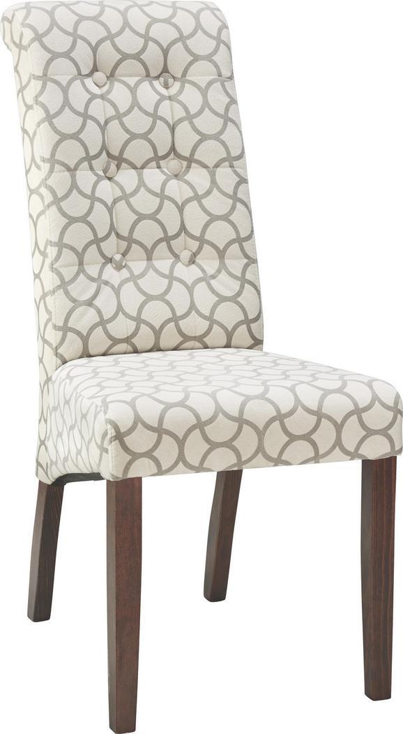 Stuhl in Creme/grau - ROMANTIK / LANDHAUS, Holz (48/102/50cm) - ZANDIARA