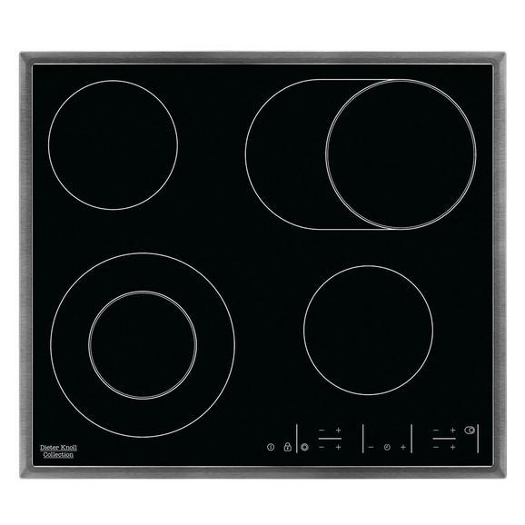 Glaskeramikkochfeld DKEV6646XB - Edelstahlfarben/Schwarz, Basics, Glas/Metall (57,6/4,0/50,6cm) - Dieter Knoll