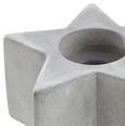 Teelichthalter Stern - Hellgrau, MODERN, Stein (10,6/5/10,6cm)