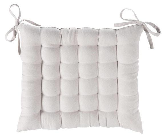 Sitzkissen Anke Weiß ca. 40x40cm - Weiß, Textil (40/40cm) - Mömax modern living