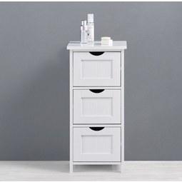 UNTERSCHRANK Weiß 'Bianca' - Weiß, MODERN, Holz (30/63/30cm) - Bessagi Home