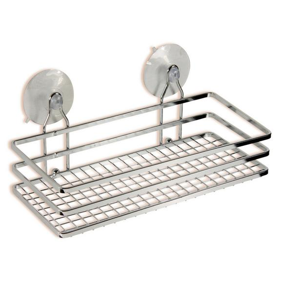 Raft Pentru Duș Milano - argintiu, Konventionell, metal (25/10/11,5cm) - Ombra