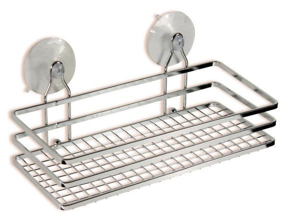 Zuhany Polc Milano 1 B991735 - ezüst színű, konvencionális, fém (25/10/11,5cm) - OMBRA