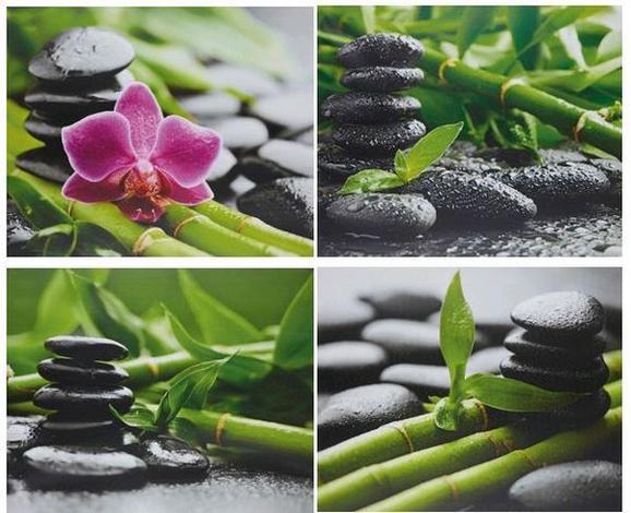 Bild Zen, ca. 40x50x1,8cm - Multicolor, LIFESTYLE, Holz/Textil (40/50/1,8cm) - Mömax modern living