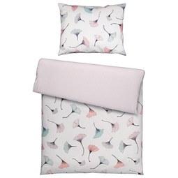 Bettwäsche Ginko in Weiß ca. 140x200cm - Rosa/Weiß, MODERN, Textil (140/200cm) - Mömax modern living
