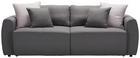 Schlafsofa in Grau mit Bettfunktion - Grau, MODERN, Holz/Textil (240/73/90/113cm) - Modern Living