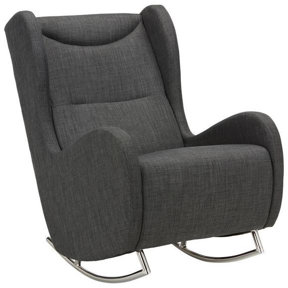 Schaukelstuhl Grau - Chromfarben/Grau, MODERN, Textil/Metall (68/107/102cm) - Modern Living