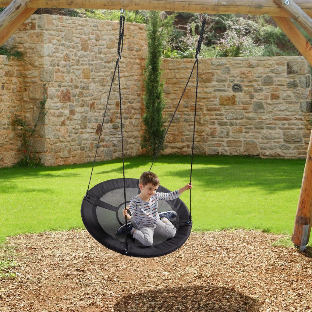 Nestschaukel Emma | Kinderzimmer > Spielzeuge > Schaukeln & Rutschen | Schwarz | Edelstahl | Mömax modern living