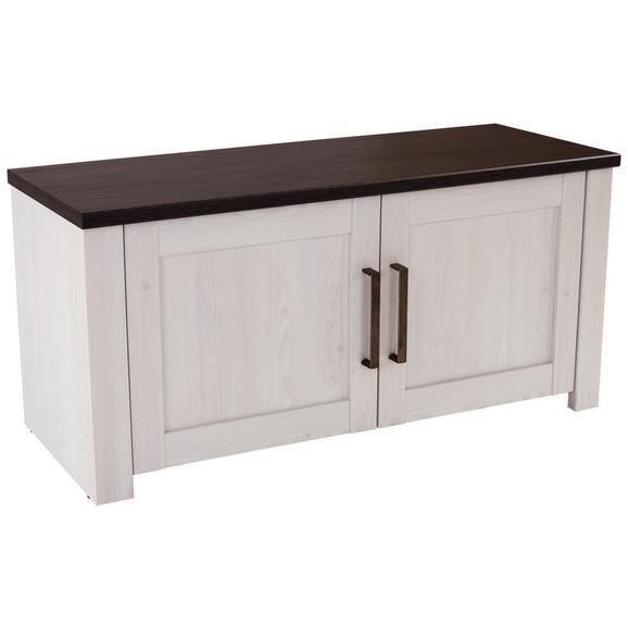 Garderobna Klop Provence - bron/wenge, Moderno, kovina/leseni material (116/49/42cm) - Zandiara