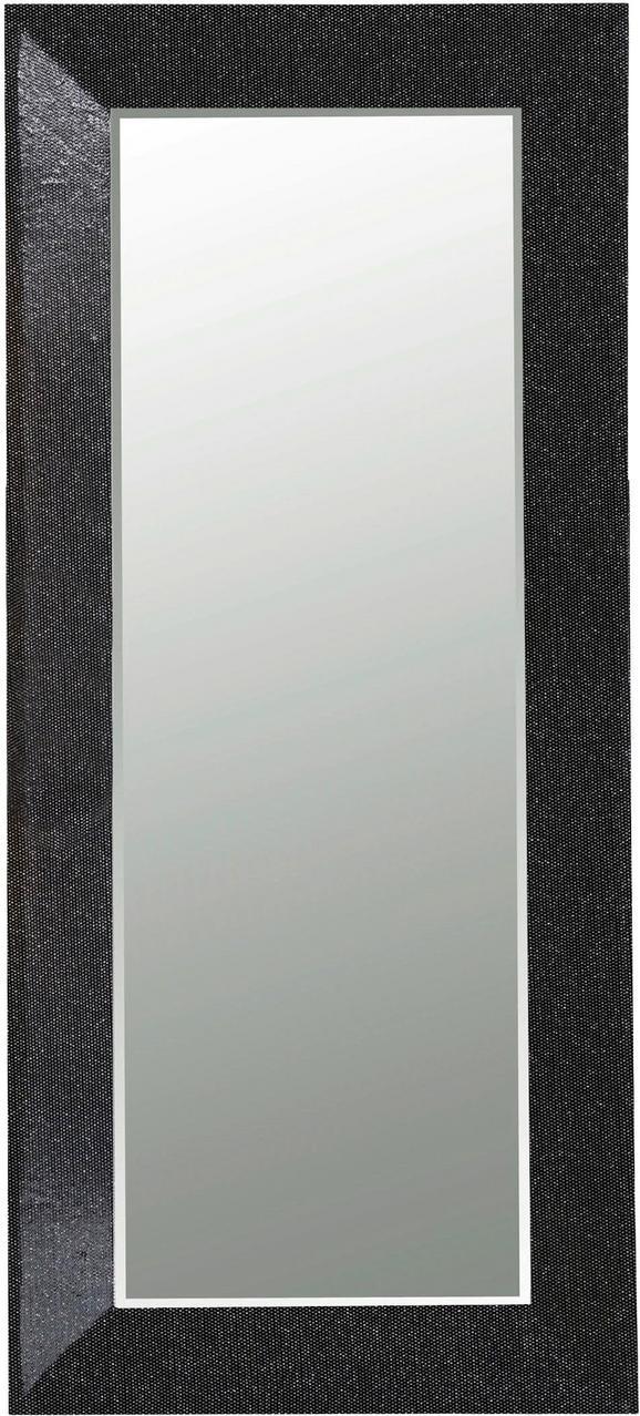 Wandspiegel in Schwarz ca. 80x180cm - Schwarz, MODERN (80/180/5cm) - Mömax modern living